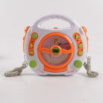 CD přehrávač Idena oranžovo bílý