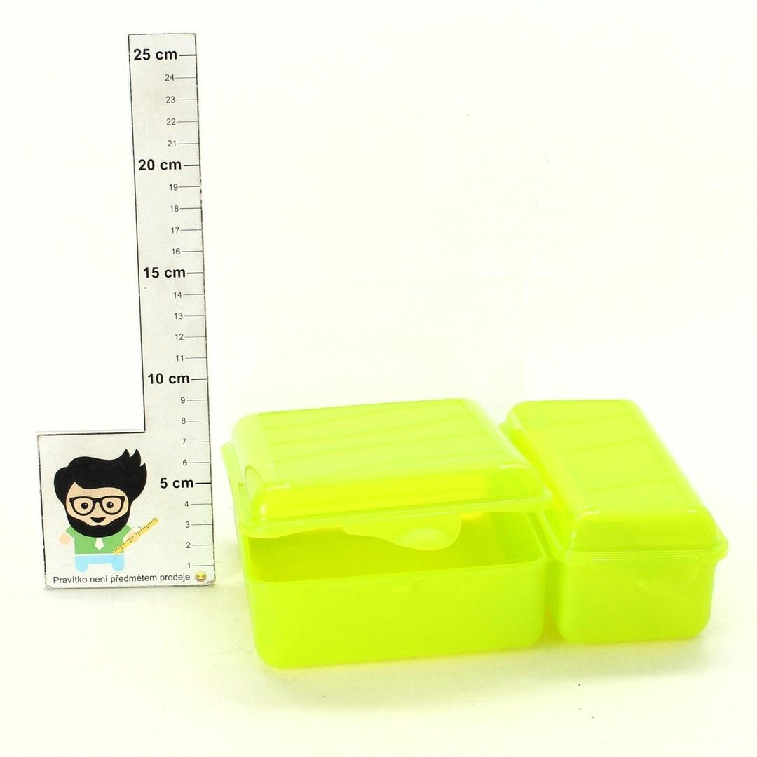 Obědový box Rotho zelené barvy