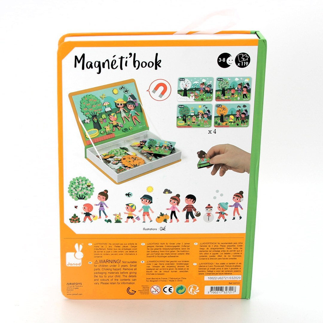 Magnetická hračka Janod Čtyři roční období
