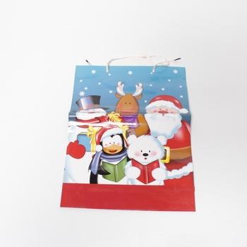 Dárková taška s vánočním motivem