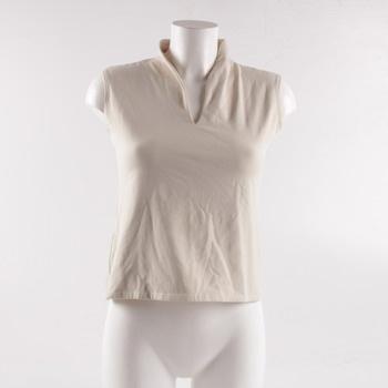 Dámské tričko Cassis bez rukávu bílé