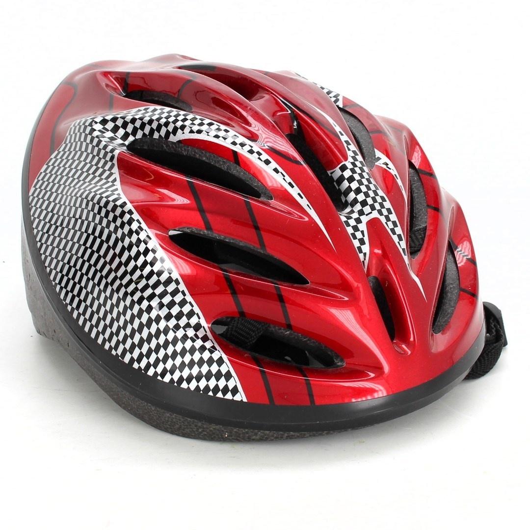 Helma červená se vzorem plastová
