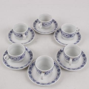 Sada šálků s podšálky porcelán Dvory