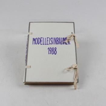 Časopis Modelleisenbahner kompletní rok 1988