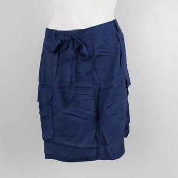 Dámská sukně s mašlí tmavě modrá 604d3a13c6