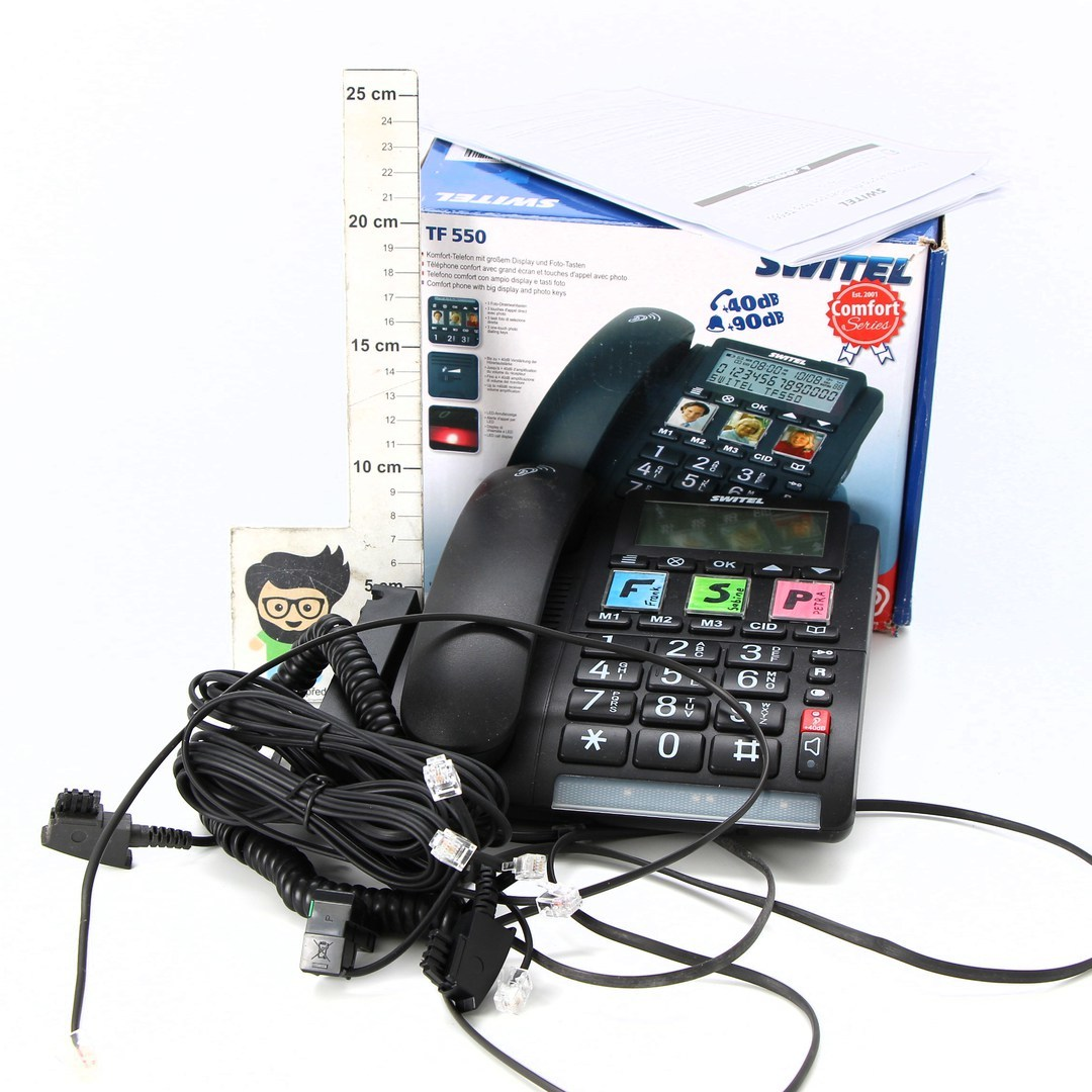 Domácí telefon Switel TF 550 černý