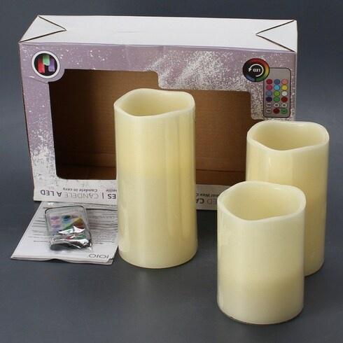 Sada LED voskových svíček IOIO 3