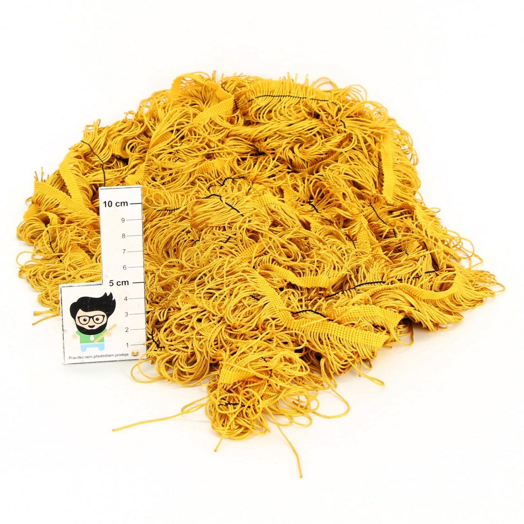 Třásně Railonch žlutozlaté délka 10 m