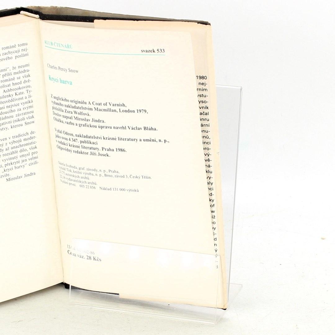 Kniha Ch. P. Snow: Krycí barva