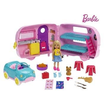 Panenka Barbie Chelsea Camper FXG90