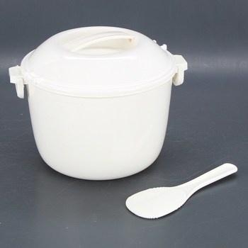Plastová nádoba s víkem na potraviny bílá