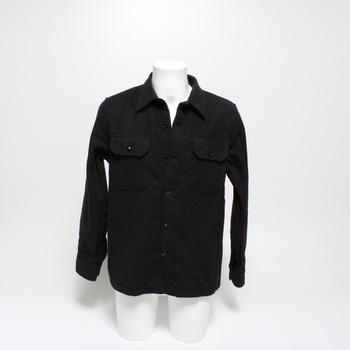 Pánská košile Schott NYC SHCARL3 černá vel.M