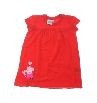 Dívčí šatičky Peppa Pig červené s obrázkem