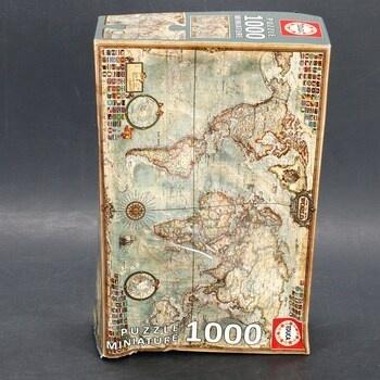 Puzzle 1000 Educa mapa světa
