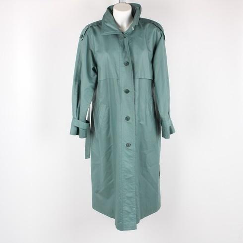 89580f019e0 Dámský dlouhý kabát petrolejový - bazar