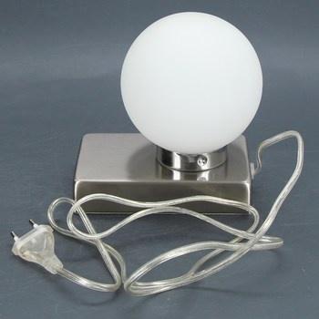 Stolní lampa Trio kulatá bílá