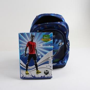 Dětský batoh s deskami Herlitz Fotbal, modrý