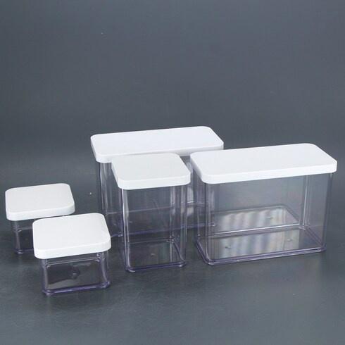 Plastové dózy Rotho LOFT 5 ks