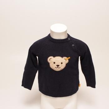 Chlapecký svetr modrý s medvídkem steiff