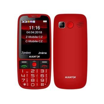 Mobil pro seniory Aligator A890 červený