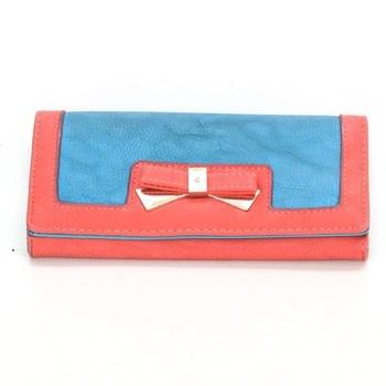 Dámská peněženka červenomodrá s mašličkou bc0b369d8b