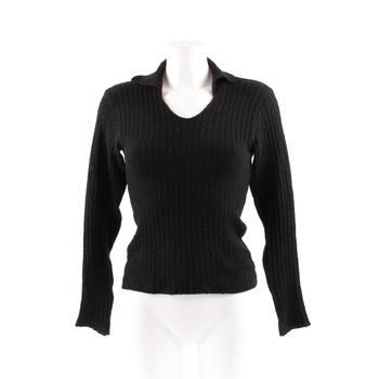 Dámský svetr QED s límečkem černý 864ddaae64