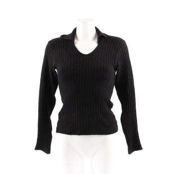 Dámský svetr QED s límečkem černý f14484cd30
