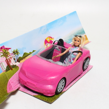 Panenka Barbie s cabrio autem FPR57