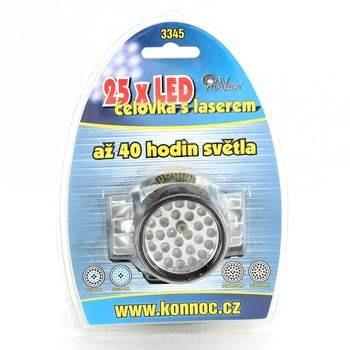 LED čelovka s laserem Konnoc 3345