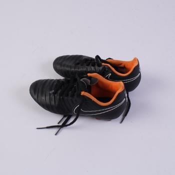 Dětské kopačky Nike černo oranžové