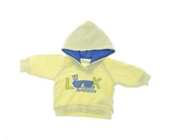 Kojenecká mikina s kožíškem Baby žlutá Cool