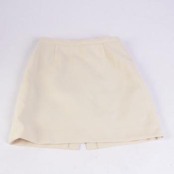 Dívčí sukně žlutá se zapínáním na zip