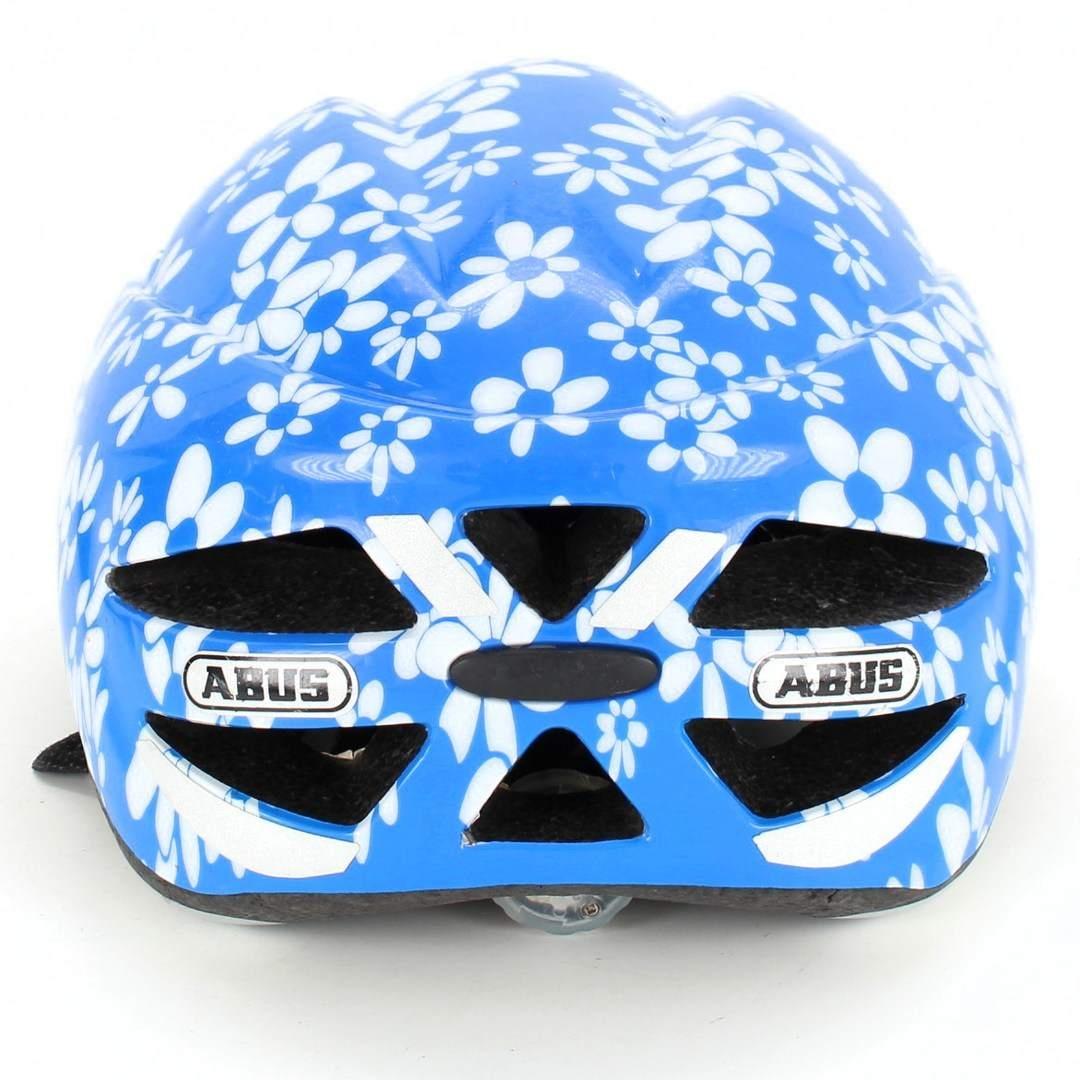 Dětská helma Abus modrá s květinami