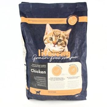 Granule pro koťata Lifelong kuře 3kg