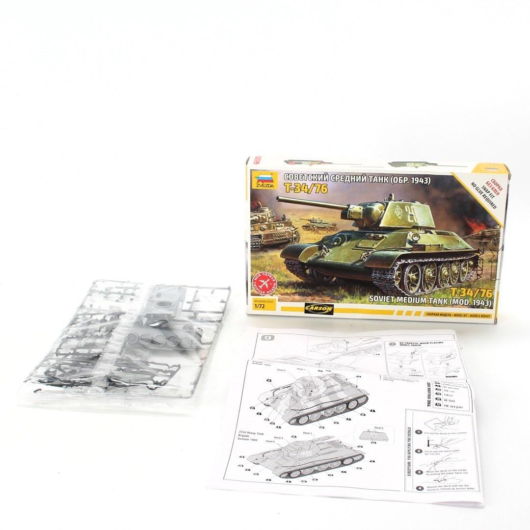 Model tanku Zvezda 1/72 T-34/76