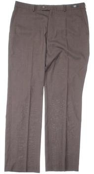 Dámské společenské kalhoty hnědé s puky