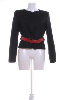 Dámské sako Camaieu černé s červeným páskem