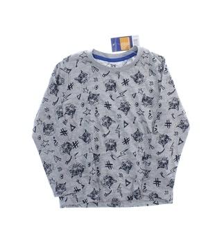 Dětské tričko Lupilu šedé s tygry