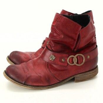 Dámské kotníčkové boty Rieker červené