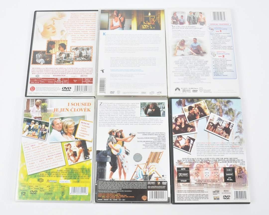 6x DVD film - Zelená karta, Vztekle tvá a