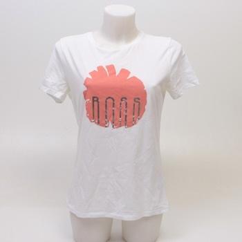 Dámské tričko s potiskem Boss bílé
