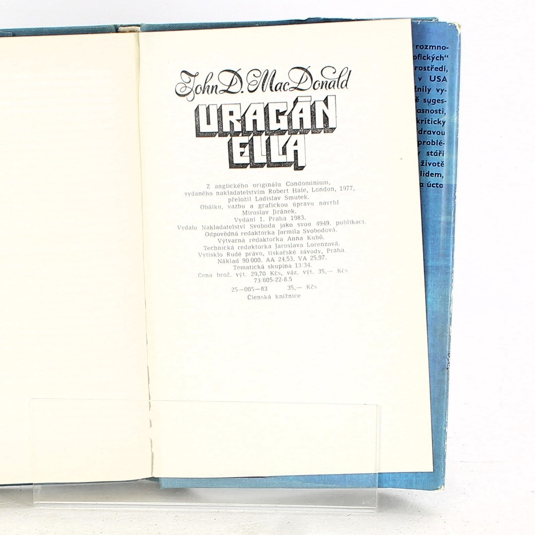 Kniha J. Donald: Uragán Ella