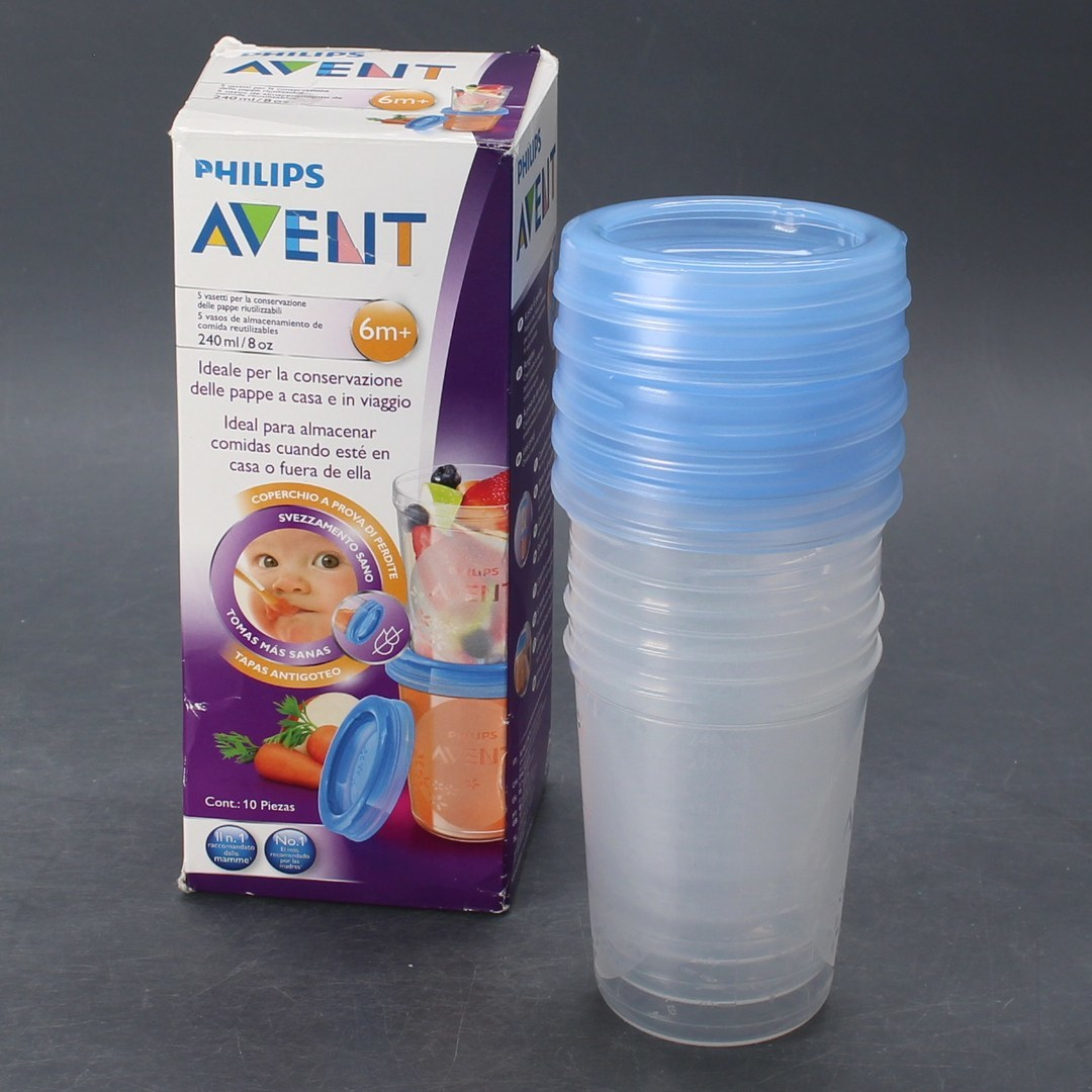 Zásobníky na jídlo Avent Storage Cups 5ks