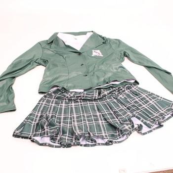 Dámský karnevalový kostým školní uniforma