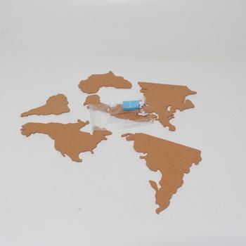 Mapa světa Luckies of London USLUKCORK