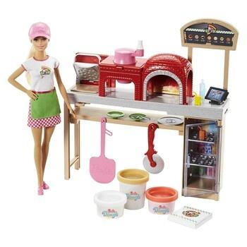 Panenka s příslušenstvím Barbie Pizza Chef