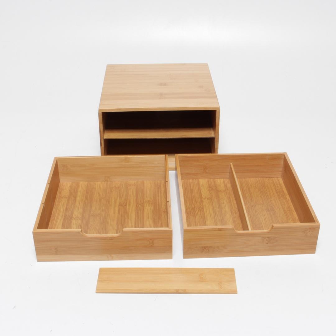 Úložný box RelaxDays z bambusu 2 zásuvky