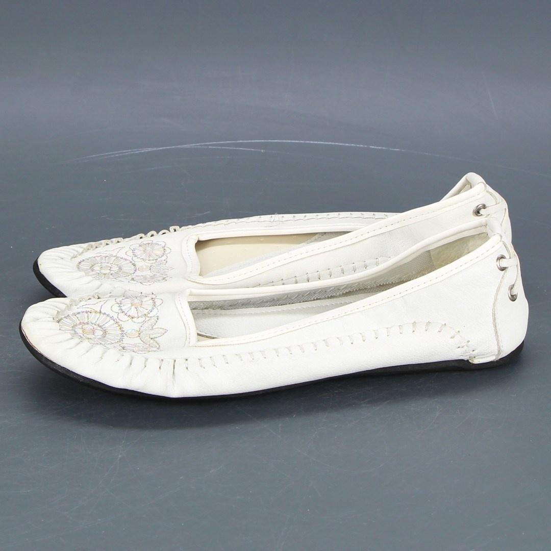 Dámské baleríny Gud, bílé