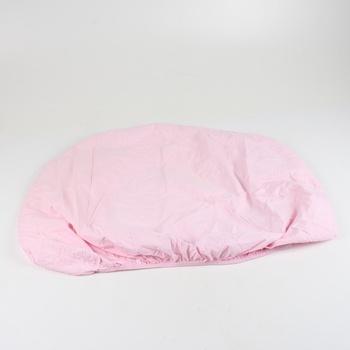 Růžové prostěradlo IKEA 100 x 85 cm
