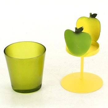 Dekorativní svícen Givi Italia zelené jablko